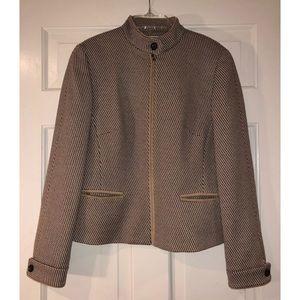 Carlisle Womens Zip Coat Jacket. Size 4 Tan/Brown